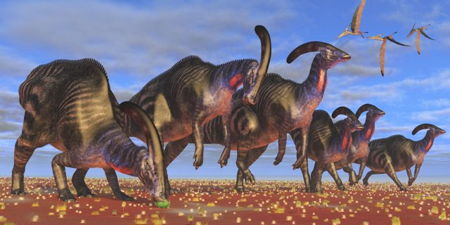 Parasaurolophus-was-a-crested-duck-billed-dinosaur-AdventureDinosaurs